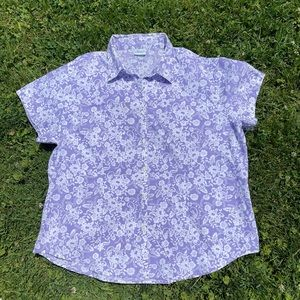 Vintage 90's Purple button down with white floral
